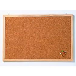 Pinnwand aus Kork 100x60cm mit Holzrahmen (1 Stück)