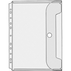 Prospekthüllen Jumbo PP Euroloch. A4 0,2mm transparent Pckg á 10 St.