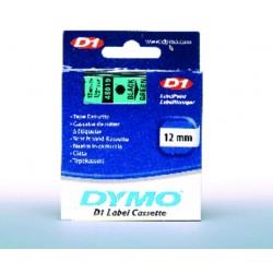 Schriftbandkassette Dymo D1 12mmx7m schwarz auf grün / 1St.