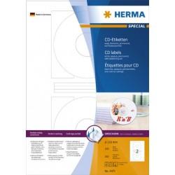 CD-Etiketten DVD-Etiketten Ø 116mm Loch-Ø 41mm Herma 4471 weiß 1 Pckg. á 200 Stück