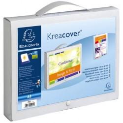 Archivbox Kreacover® mit Druckknopf A4 32x4x24cm