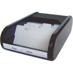Visitenkartenbox mit Jalousieverschluß PVC schwarz (1 St.)