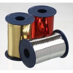 Geschenkband Ringelband 10mmx250m Silber Glanz Metallic 1 Ro.
