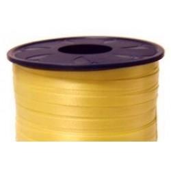 Geschenkband Ringelband 10mmx250m Gelb 605 / 1 Rolle