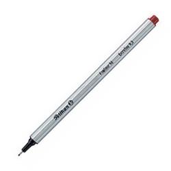 Fineliner Pelikan 96 EF 0,4mm Schaft silber Schreibf. rot 10St.