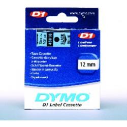 Schriftbandkassette Dymo D1 12mmx7m schwarz auf blau / 1St.