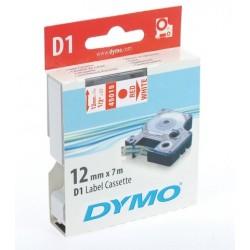 Schriftbandkassette Dymo D1 12mmx7m rot auf weiß / 1 St.