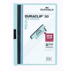 """Klemm-Mappe """"Duraclip"""" DIN A4 blau f. 30 Blatt / 1 Stück"""