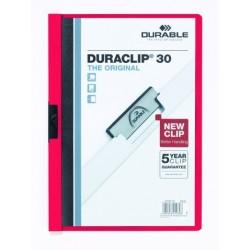 "Klemm-Mappe ""Duraclip"" DIN A4 rot f. 30 Blatt / 1 Stück"
