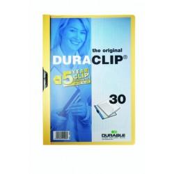 """Klemm-Mappe """"Duraclip"""" DIN A4 gelb f. 30 Blatt (1 Stück)"""