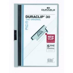 "Klemm-Mappe ""Duraclip"" DIN A4 grau f. 30 Blatt / 1 Stück"