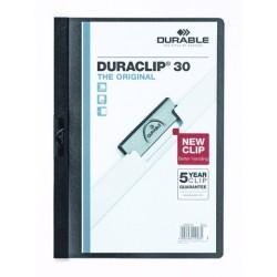 """Klemm-Mappe """"Duraclip"""" DIN A4 schwarz f. 30 Blatt / 1 Stück"""