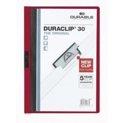 "Klemm-Mappe ""Duraclip"" DIN A4 aubergin f. 30 Blatt / 1 Stück"