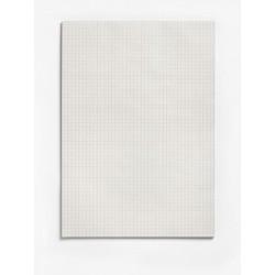 Briefblock A4 kariert 60g/m² RC grau 50 Blatt recycling o. Deckblatt