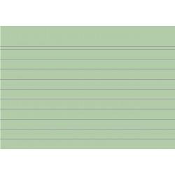 Karteikarten liniert DIN A7 Karton, 205 g/m² grün (100 Stück)