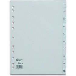 Register PP 0,12mm 1-10 A4 volle Höhe 10 Blatt grau (1 Stück)