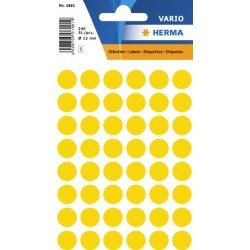 Etiketten Markierungspunkte Herma rund Ø 12mm gelb /  Pckg. =  240 St.