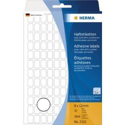 Etiketten 12x8mm Herma 2310 weiß Schachtel á 3840 Stück