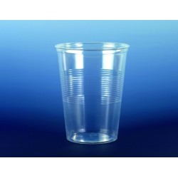 Trinkbecher 0,5l Polystyrol klar 9,5x12,1cm transparent VE=75St
