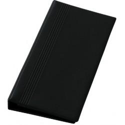 Visitenkartenringbuch 14,7x26,5cm für 200 Karten schwarz inkl. Visitenkartenhüllen