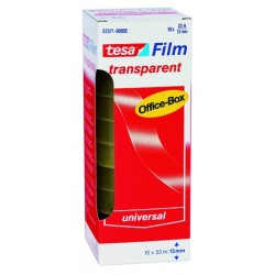 Klebefilm Tesa 33m x 15mm transparent PP Office-Box=10 Rollen