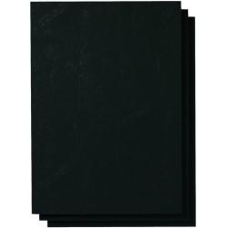 Einbanddeckel Lederstruktur 250g/m² A4 VE=100 Stk. schwarz