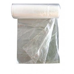 Müllbeutel 490x600mm 30l HDPE Folie transparent Rolle á 50 Stück