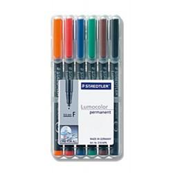 Projektionsschreiber Lumocolor 318 permament F / 6er-Etui