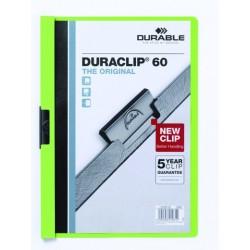 """Klemm-Mappe """"Duraclip"""" DIN A4 grün f. 60 Blatt / 1 Stück"""