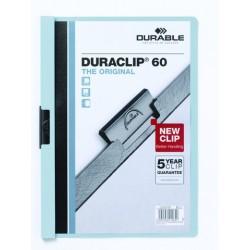 """Klemm-Mappe """"Duraclip"""" DIN A4 blau f. 60 Blatt / 1 Stück"""