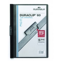 """Klemm-Mappe """"Duraclip"""" DIN A4 schwarz f. 60 Blatt / 1 Stück"""