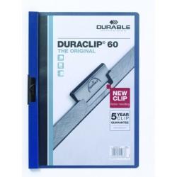 """Klemm-Mappe """"Duraclip"""" DIN A4 dunkelblau f. 60 Blatt / 1 Stück"""