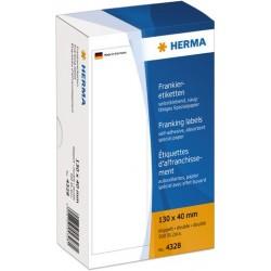 Frankieretiketten doppelt weiß Herma 4328 130 x 40mm (500 St.)