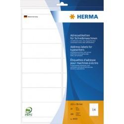 Adressetikett 102x38mm Herma 4433 Buchetiketten weiß /1 Pckg. á 280 Stck.