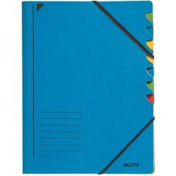 Ordnungsmappe Leitz 3907 Karton (RC) Gummizug A4 blau / 1St.