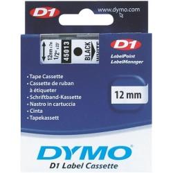 Schriftbandkassette Dymo D1 12mmx7m schwarz auf weiß / 1 St.