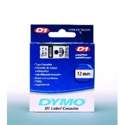 Schriftbandkassette Dymo D1 12mmx7m schwarz auf farblos 1St.
