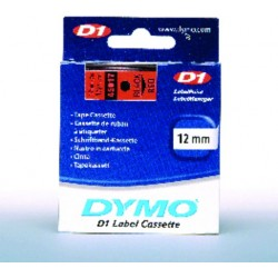 Schriftbandkassette Dymo D1 12mmx7m schwarz auf rot / 1 St.