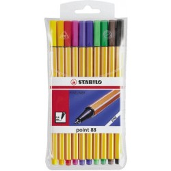 Tintenschreiber Stabilo Point 88 0,4mm farbig sortiert 10er Etui