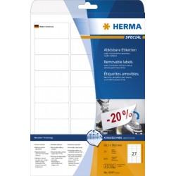 Etiketten ablösbar 63,5x29,6mm weiß Herma 4347 1 Pckg.=675 St.
