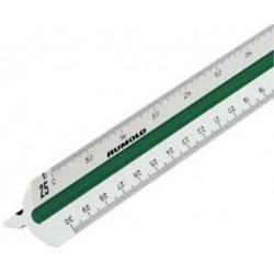Dreikantmaßstab DIN 150 Ingenieur Kunststoff Länge 30 cm