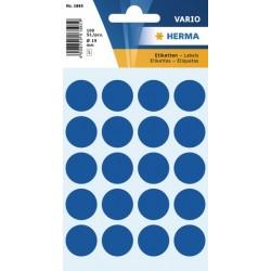 Etiketten Markierungspunkte rund Ø 19mm blau dunkelblau / Pckg. = 100 St.