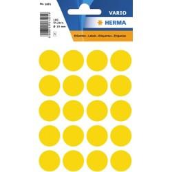 Etiketten Markierungspunkte rund Ø 19mm gelb / Pckg. = 100 St.