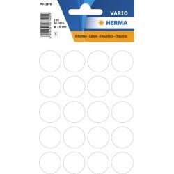 Etiketten Markierungspunkte rund Ø 19mm weiß / Pckg. = 100 St.