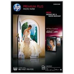 Fotopapier HP Premium Plus A4 280g/m² weiß hochglänzend 1Pck
