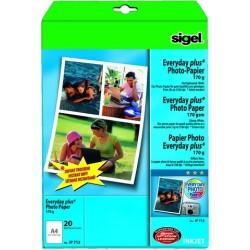 Fotopapier Inkjet-Papier Sigel 713 A4 170g hochweiß Pckg.=20 Bl.