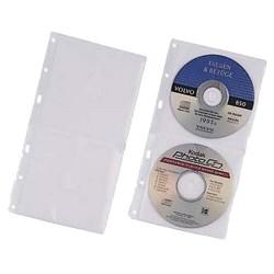 CD/DVD-Hüllen f. A4 f. 2 CD's zum Abheften 10st/Pack