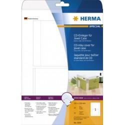 Etikett CD-/DVD-JewelCases I/L/K Karton Herma 5036 weiß Pckg. á 25 Stück
