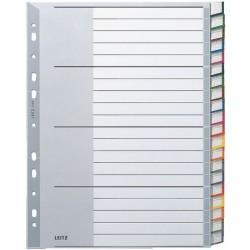 Register Leitz 1278 Blanko A4 PP 297x238 20Bl grau Einsteckschild 1St