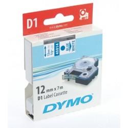 Schriftbandkassette Dymo D1 12mmx7m blau auf weiß / 1 St.